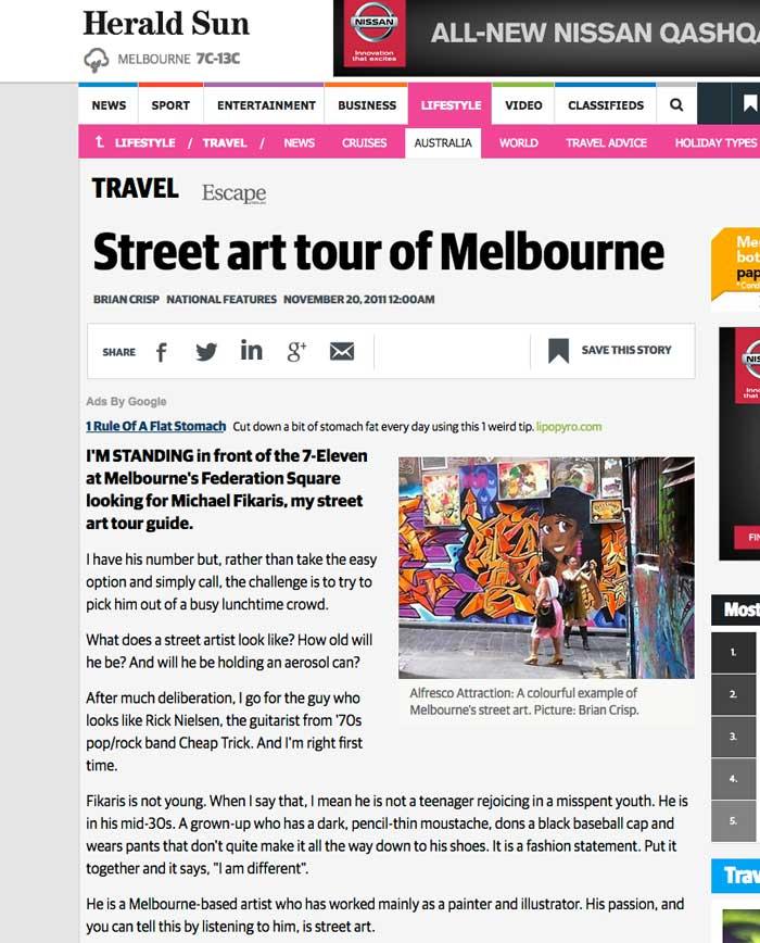 melbourne street tour herald sun