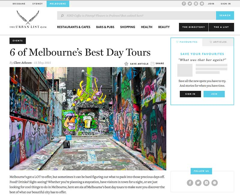 melbourne's best day tours street art