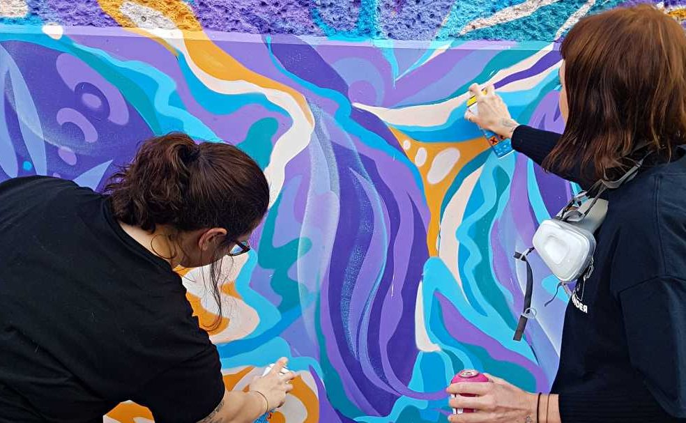 freehand painting - melbourne street tours